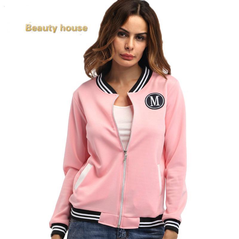 f10c8e9b1 ♛Plus size korean women baseball jacket long sleeve casual   Shopee ...