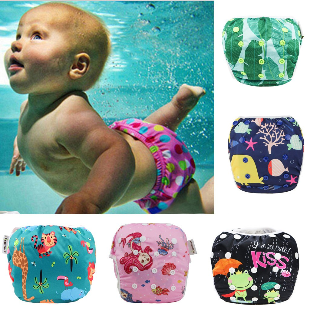 Baby Swim Underwear For Lesson Reuseable Washable Adjustable Swiming Diapers
