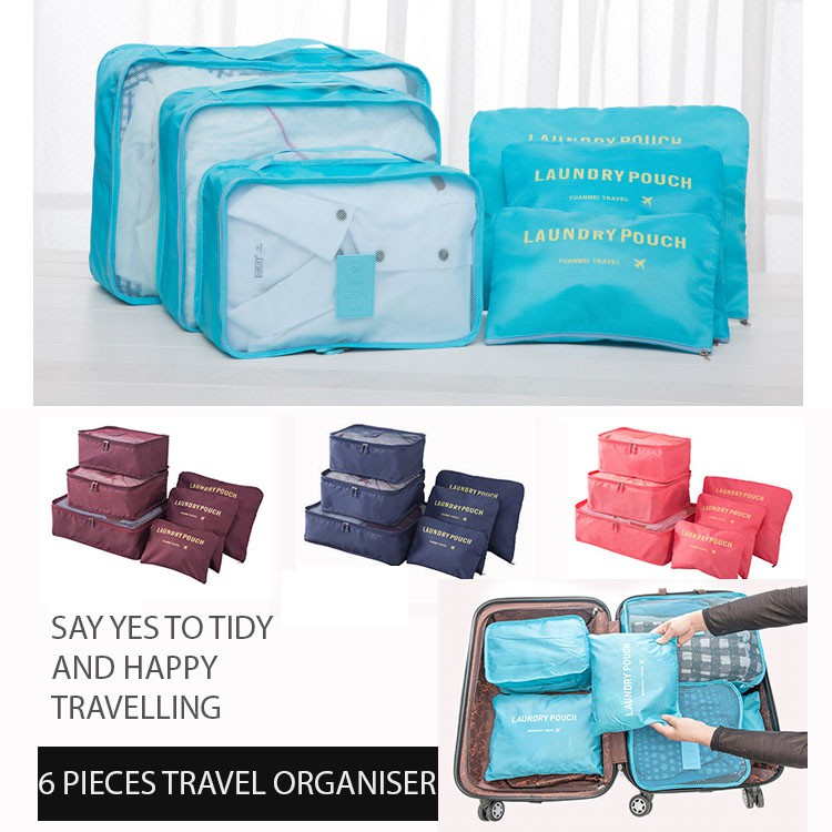25860959061a Extra Large 40cm Type 6 in 1 Travel Organizer Bag Pouch Luggage Organizer