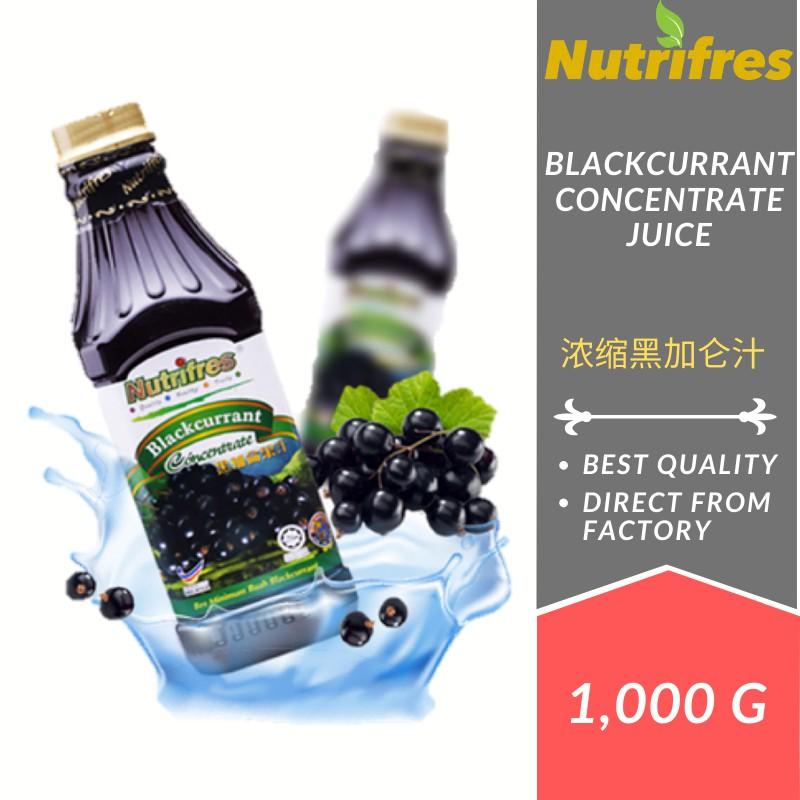 Nutrifres Blackcurrant Fruit Juice Concentrate / Cordial (1 Liter)