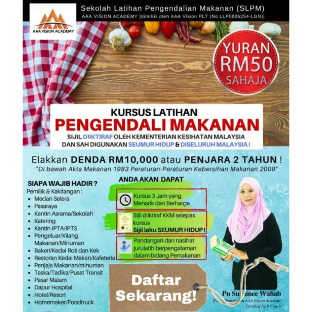 Kursus Pengendalian Makanan Di Klang Shopee Malaysia
