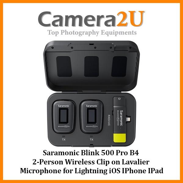 Saramonic Blink 500 Pro B4 2-Person Wireless Clip on Lavalier Microphone for Lightning iOS IPhone IPad (TX+TX+RXDi)