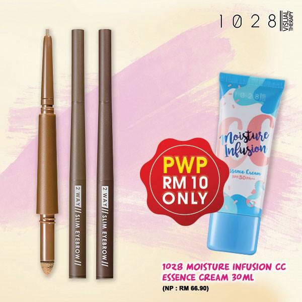 1028 2 Way Long-Lasting Slim Eyebrow 01 Light Brown/02 Butter Brown/03 Warm Gray