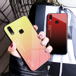 classic fit 68fb0 b693e Vivo Y93 Y91 Y95 Phone Case Hard Tempered Glass Back Cover | Shopee ...