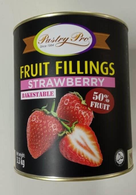 PastryPro Fruit Fillings Strawberry- 50% Fruit- (3.3kg)