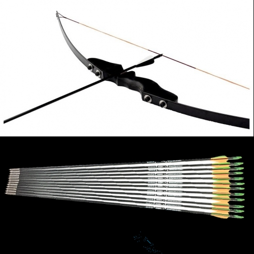 30 LBS Recurve Bow 12 PCS Arrows 50