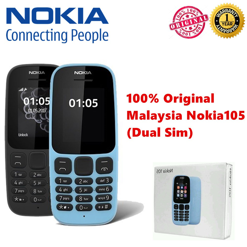 Explore Nokia Product Offers And Prices Shopee Malaysia 105 Dual Sim Handphone Black