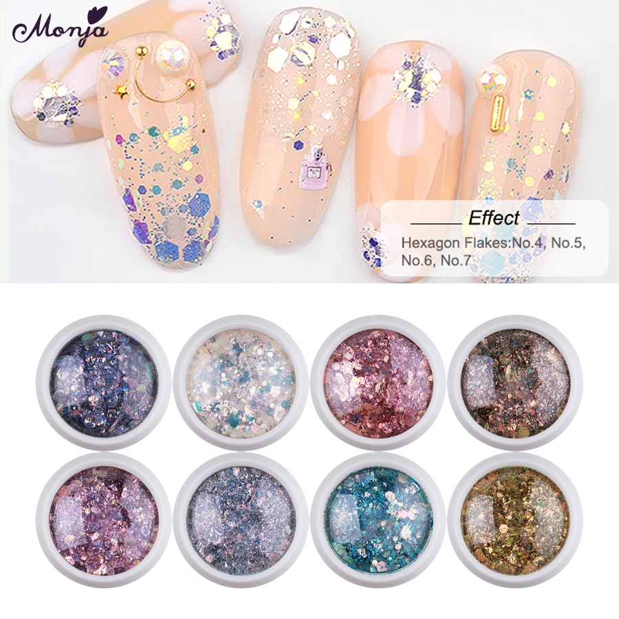 46f42de080 Nail Art Super Sparkling Sequins Flakes Glitter Powder Paillette 3D Charm  Decor 网红妖精之瞳美甲亮片