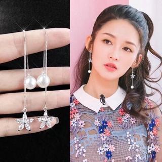 SHOUSHI Womens Simple 925 Silver Geometric Stud Earrings S925 Sterling Silver Love Stud Earrings Exquisite Temperament Diamond Female Earrings Silver Jewelry