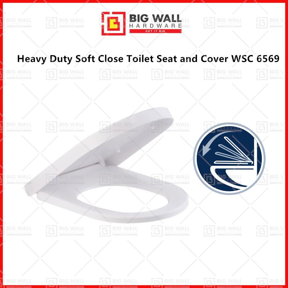 Medium Duty Soft Close Toilet Seat Cover WSC 6569 470x360mm U Shape Suitable for Johnson Suisse Ancona Como Big Wall