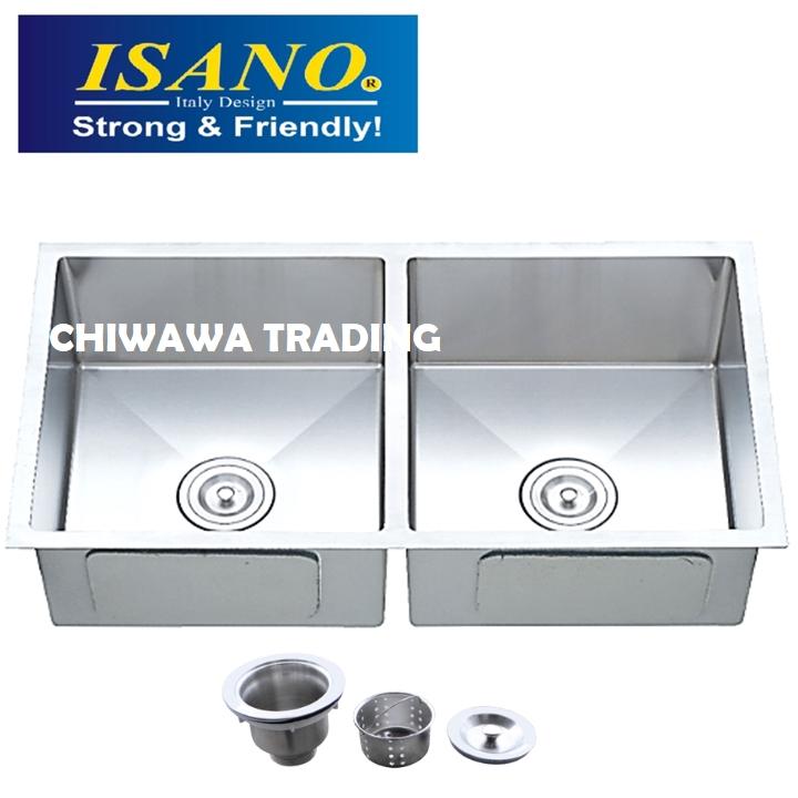 ISANO B350 Stainless Steel Kitchen Sink Bowl Basin Drainer