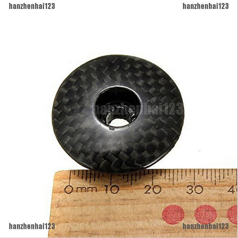 "3K Carbon Fiber MTB Road Bike Bicycle Headset Stem Top Cap Cover Bolt For 1-1//8/"""