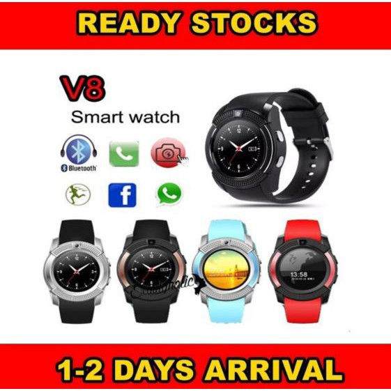 [Ready Stock] V8 FULL HD Smartwatch Phone Simcard Camera DZ09 GT08