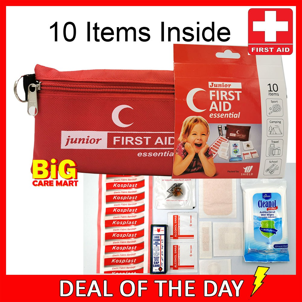 Mini Travel First Aid Kit (10 Items Inside)