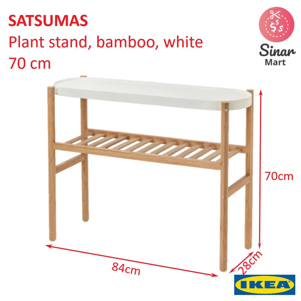 Ikea Satsumas Plant Stand Bamboo White 70 Cm Shopee Malaysia