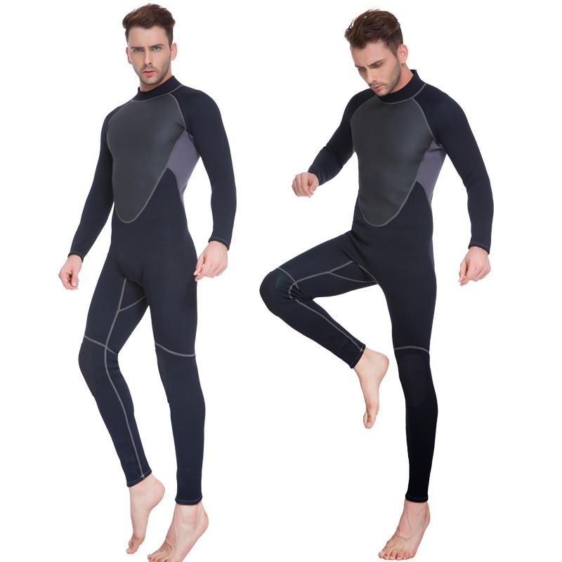 51a032ba8f Men outdoor 3 mm Half dry Diving suit male neoprene Rubber conjoined Diving  suit