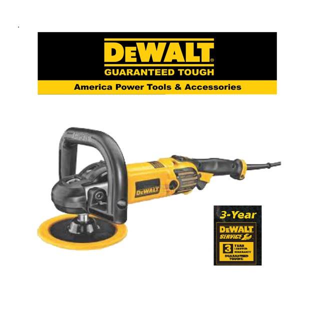 """Dewalt DWP849X -7 """"1250W/ 178mm Variable Speed  Polisher soft Start+Side Handle +Flanges+Spanner+Rubber Pad"""