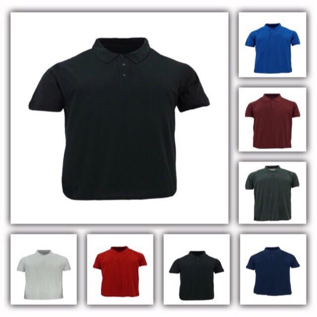 Men S Plain Polo Oversize Tshirt Sport Baju Besar T Shirt Kolar Sukan Kosong Shopee Malaysia
