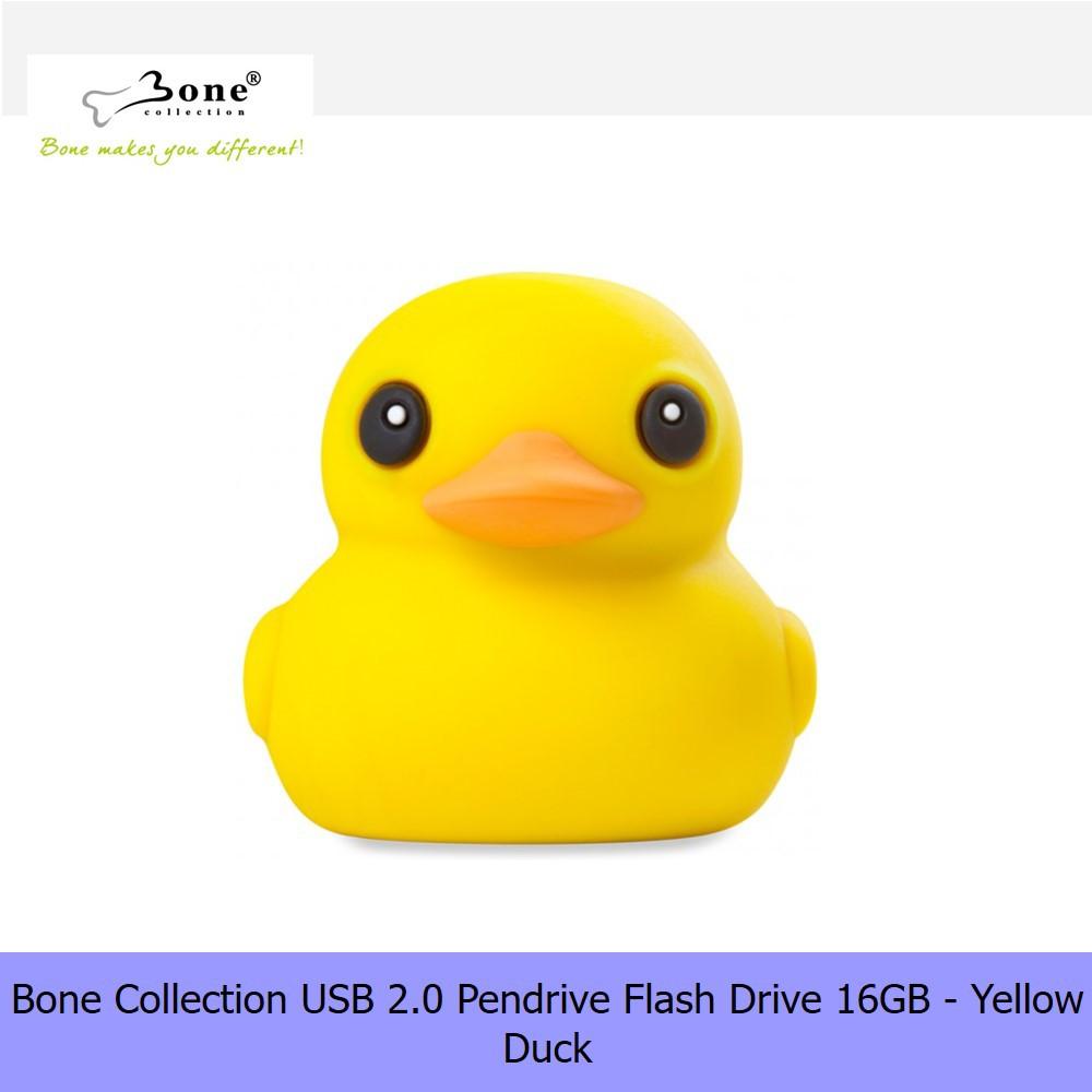 【16G Pendrive】Bone Collection USB 2.0 Pendrive Flash Drive 16GB - Yellow Duck
