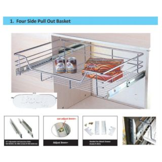 350mm 900mm Kitchen Cabinet Pull Out Basket Shopee Malaysia