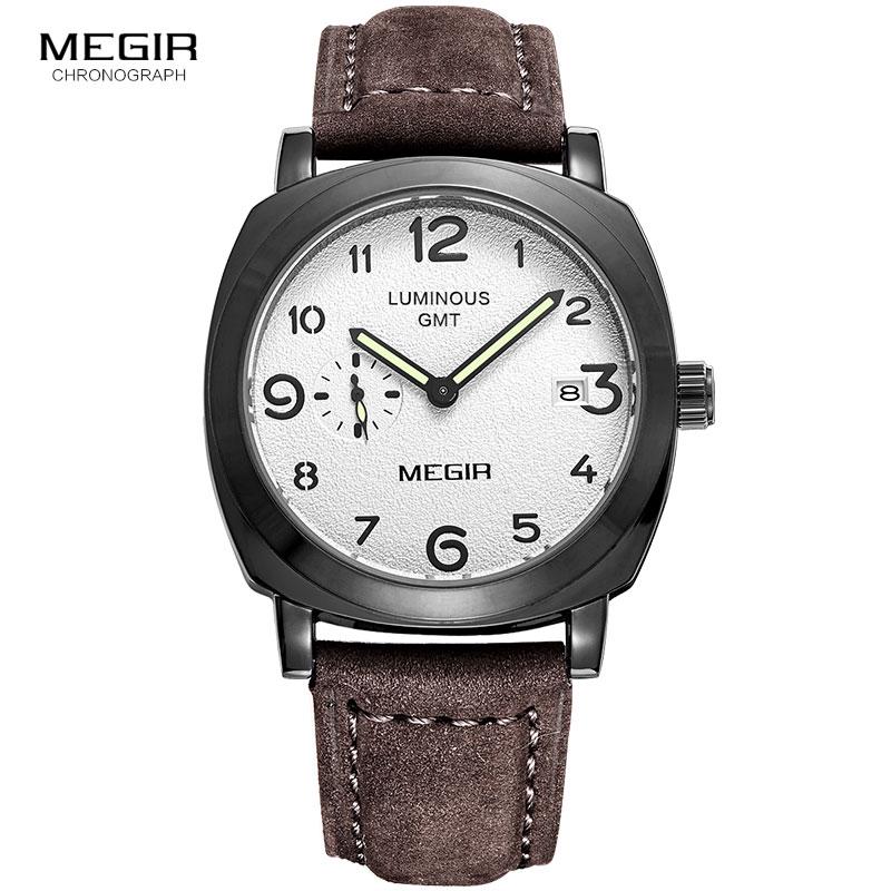 393755cd1b2 MEGIR 3006 Original Men Watch Luxury Chronograph Quartz Wrist Watches