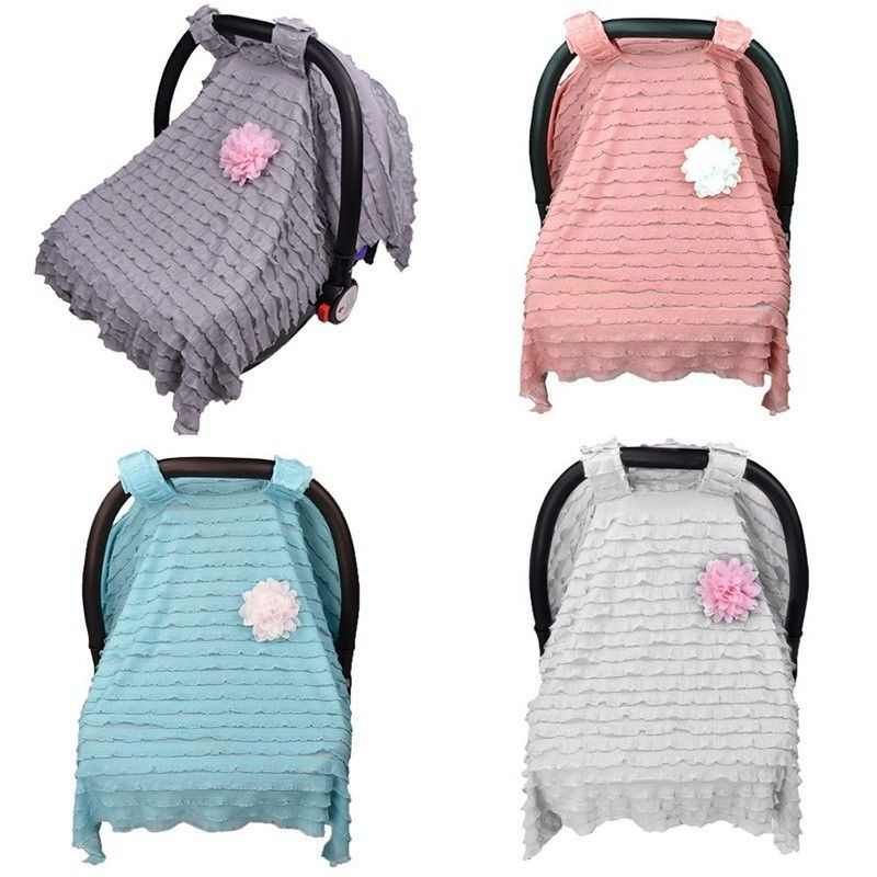 Baby Car Seat Cover Infant Newborn Nursing Cradle Canopy Buggy Sun Shade Cover