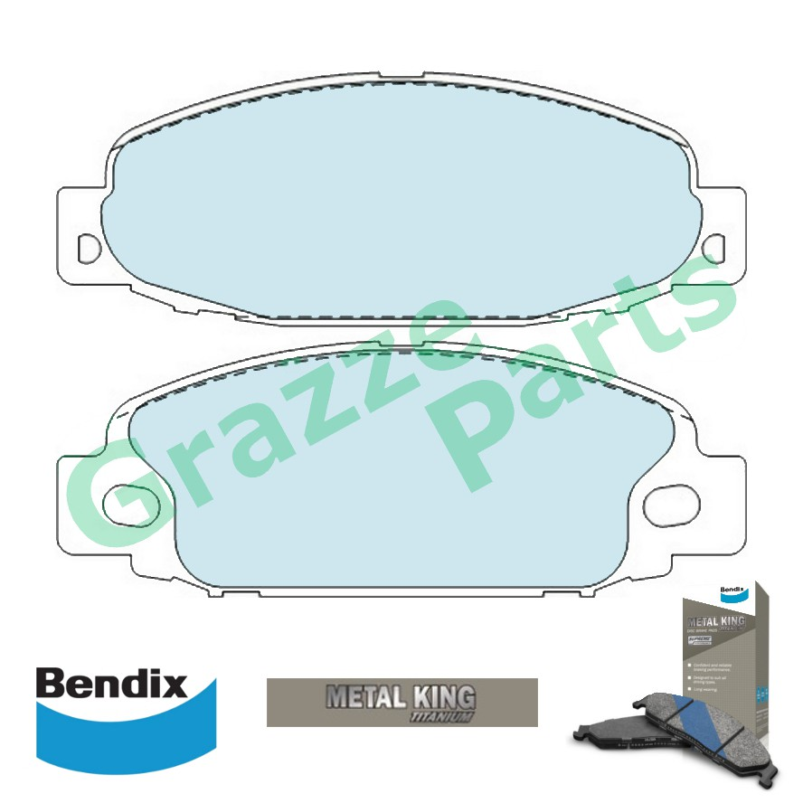 Bendix Metal King Titanium Disc Brake Pad Front for DB1315 Mitsubishi Canter FB308