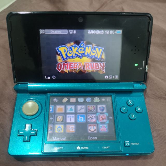 10% Cashback NINTENDO 3DS Blue Metalic With 10 Games