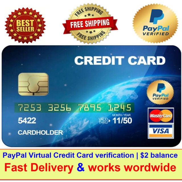 Visa VCC Virtual Credit Card For Paypal Verification  $12 balance  Fast  Delivery