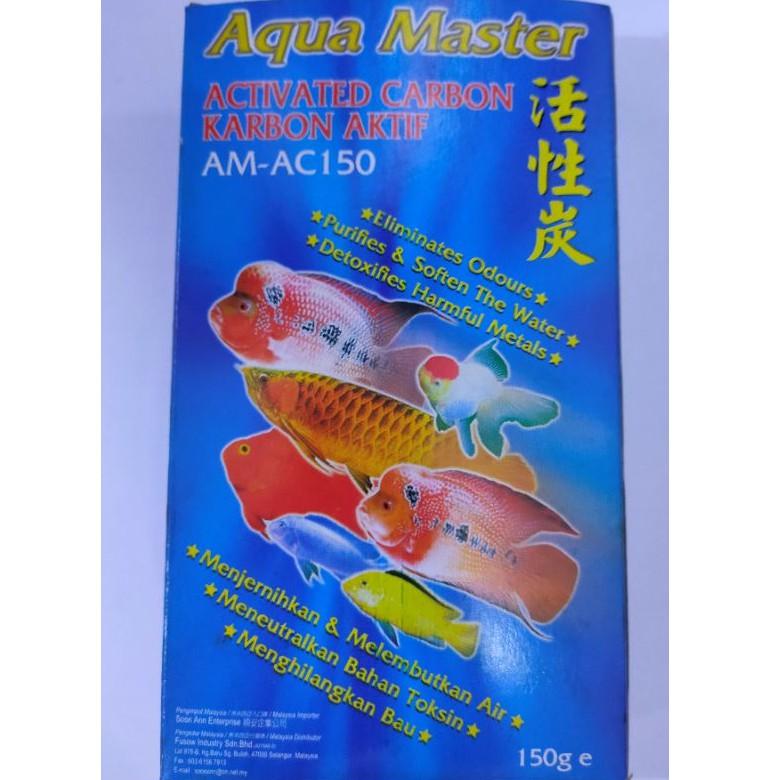 (CLEARANCE) AQUA MASTER Active Carbon (AM-AC150) 150g | AQUA MASTER Karbon Aktif 150g