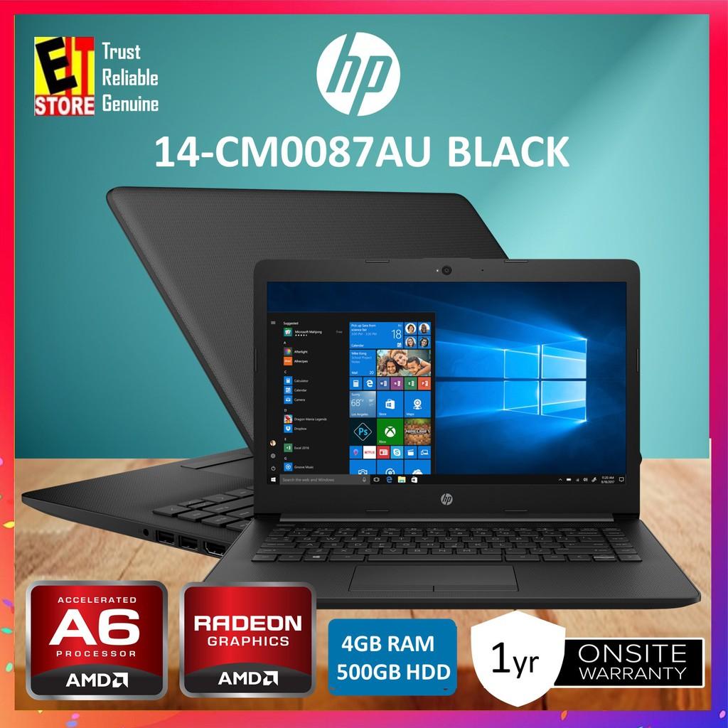 HP 14-cm0087AU black AMD A6-9225, 4GB, 500GB, AMD Radeon R4,W10,1yr