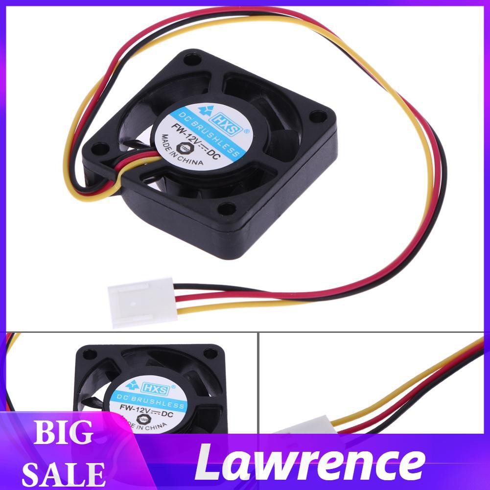 ABS Computer Fan DC 40*40*10mm Quiet 12V Chassis Cooler Case Noiseless