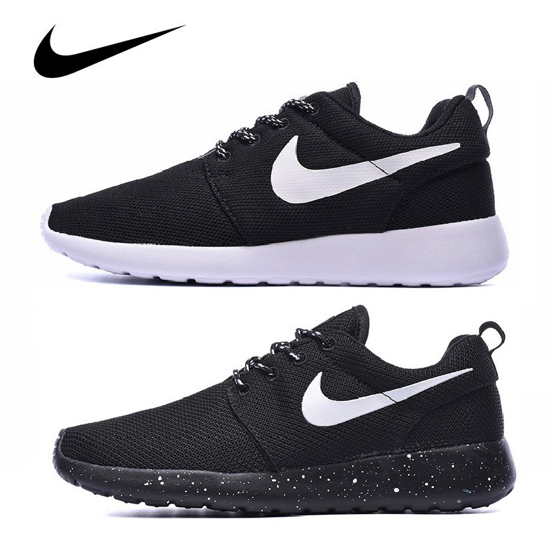 low priced 6e947 debc3 Original Nike Roshe run one running shoes women men sports unisex sneakers  black