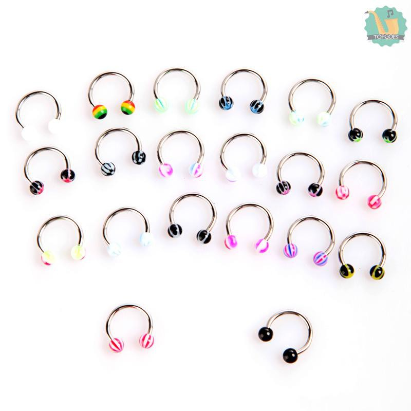 Ball Nose Rings Nose Ring 20pcs 1 2 8 3 3 Mm Shopee Malaysia