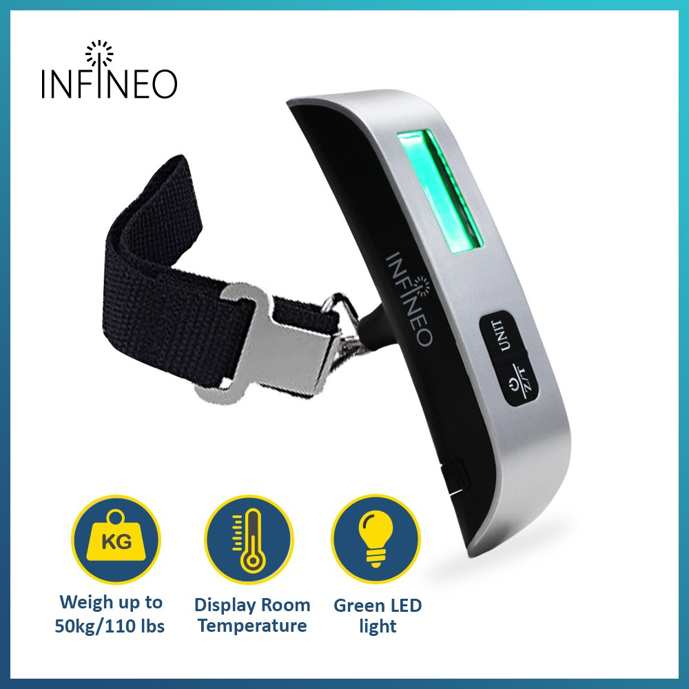 INFINEO Portable Digital Luggage Scale Travel Weighing Scale with LCD Display (DLS02)