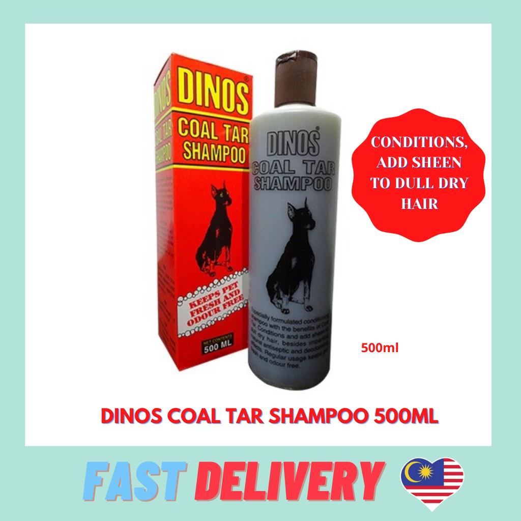 Dinos Coal Tar Shampoo 500ML Conditions Pets Dry Hair
