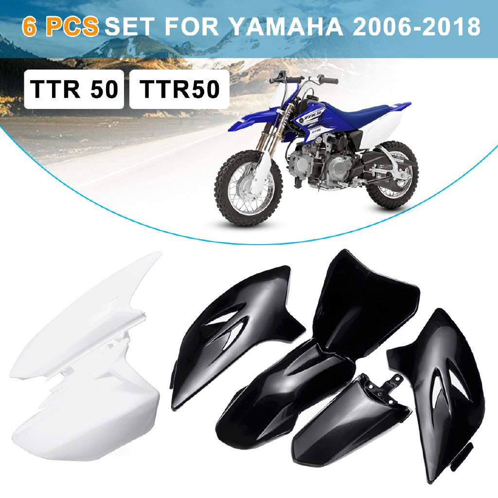 Other Decals & Emblems NEW TTR50 WHITE FENDER FAIRING PLASTICS KIT MOTOR DIRT PIT BIKE YAMAHA TTR 50 Motorcycle Accessories