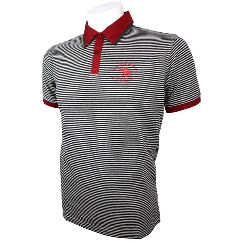 Santa barbara polo racquet club men 39 s printed stripe for Santa barbara polo shirt