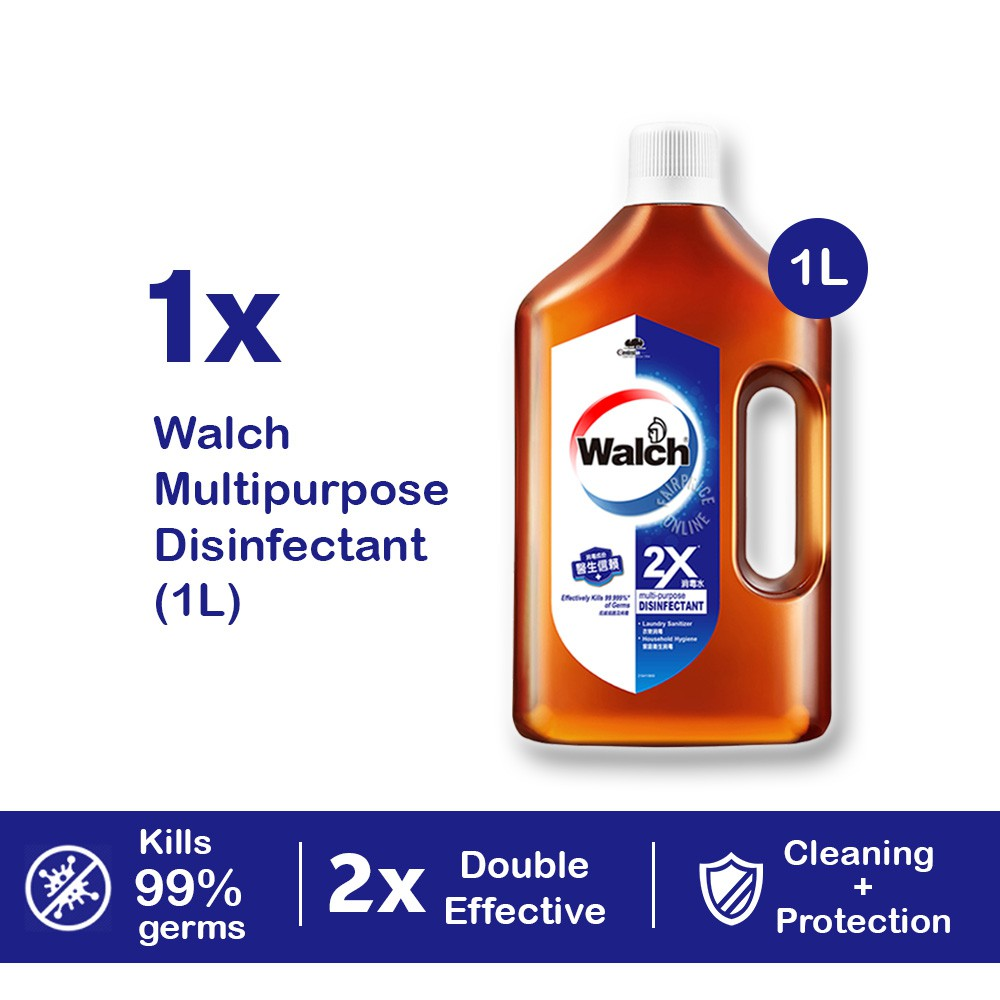 Ready Stock Walch Multi Purpose Concentrated Disinfectant 1L Kills 99.9% Germs