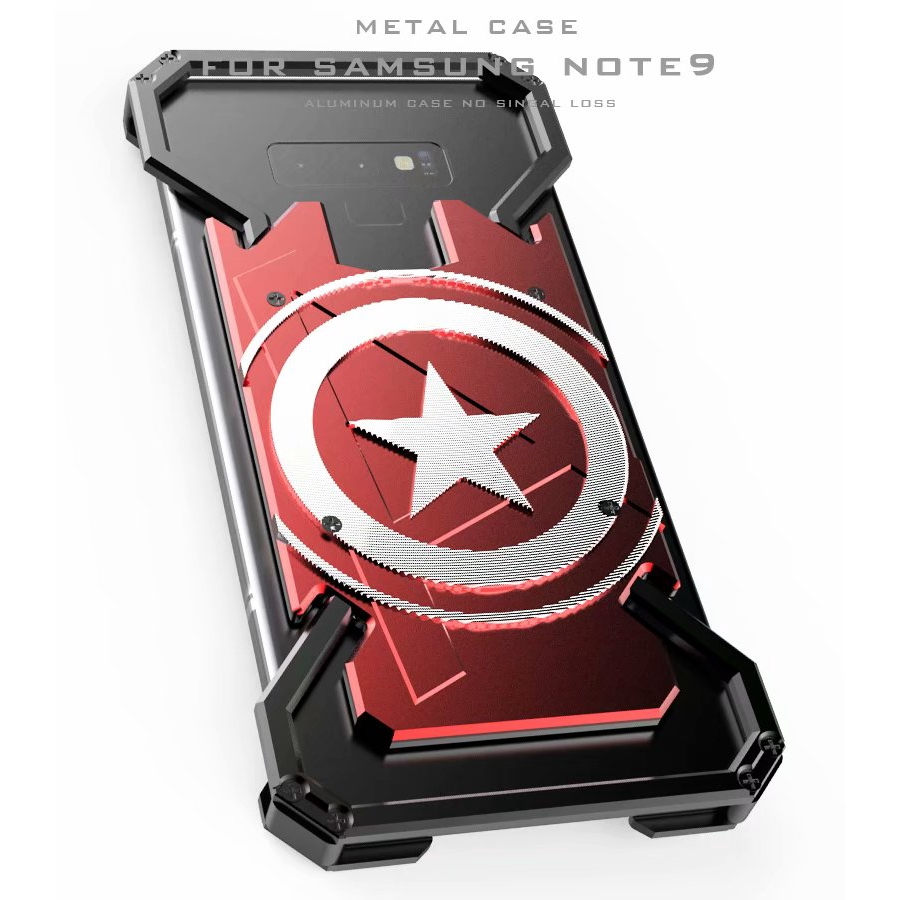 Samsung Galaxy Note 9 Shockproof Metal Back Cover Aluminium Phone 4 Mirror Backcase With Bumper Black Cases Shopee Malaysia