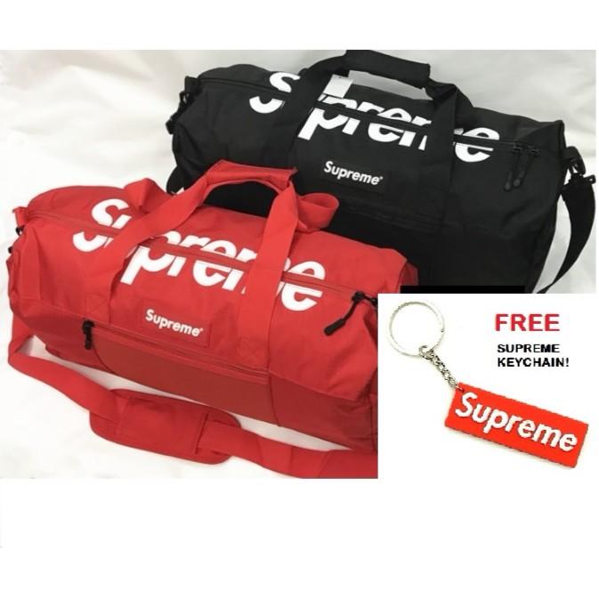 4fd91d66bb [Malaysia Ready Stock] - SUPREME Duffle Bag Travel Gym Bag Handbag | Shopee  Malaysia