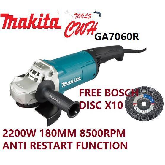 MAKITA GA7060R 2200W 180MM (7″) ANGLE GRINDER CUTTER GRINDING CUTTING GA 7060 R GA 7060R