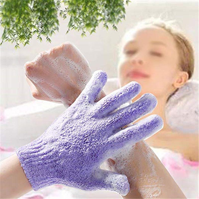【Ready stock】Bath towel magical exfoliating,strong mud rubbing five fingers, bathing gloves 搓澡巾神奇去角质免搓弹性强力搓泥五指 洗澡沐浴手套