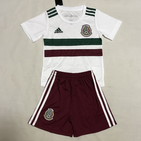 buy online 441ab 6f8ff 2018 World Cup Mexico National Team Away Kids Soccer Jersey Fashion Kit