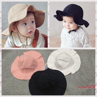 4f8b6000e OOE-Summer Newborn Unisex Baby Kids Sun Beach Cap Cotton Bucket Hat ...