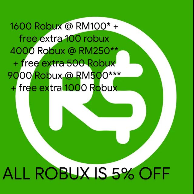 Roblox Robux Promotion Shopee Malaysia