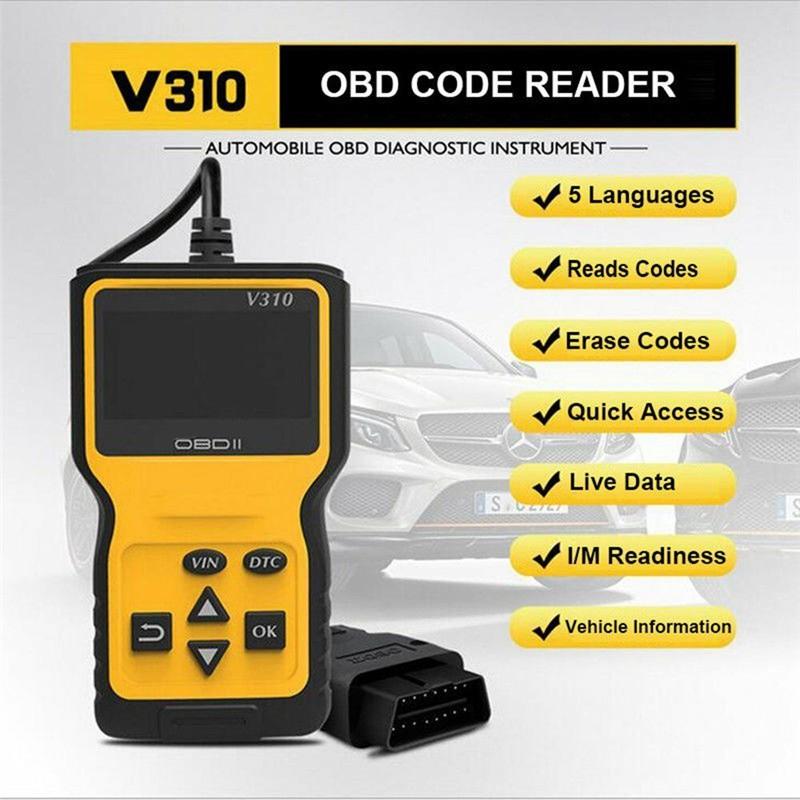 2019 Newest Scanner Diagnostic Code Reader New V310 OBD2 OBDII Car  Diagnostic To
