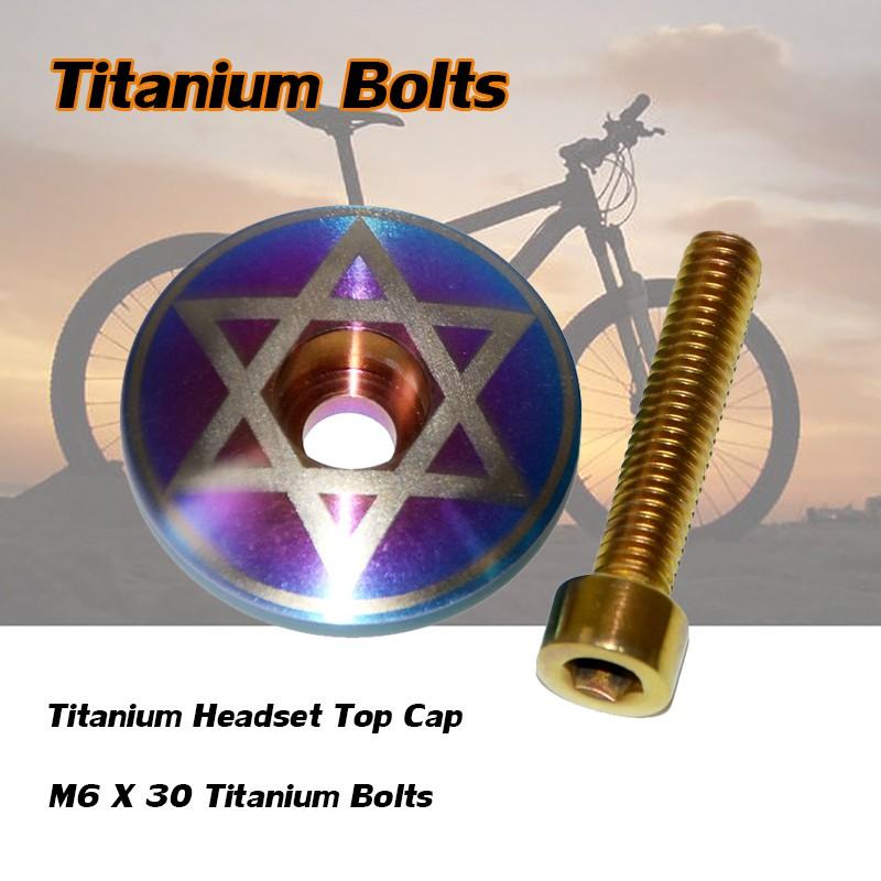 7 Gold Titanium M5 x 16mm - 6 /& M6 x 35mm Ti Bolts For Stem /& Headset Cap