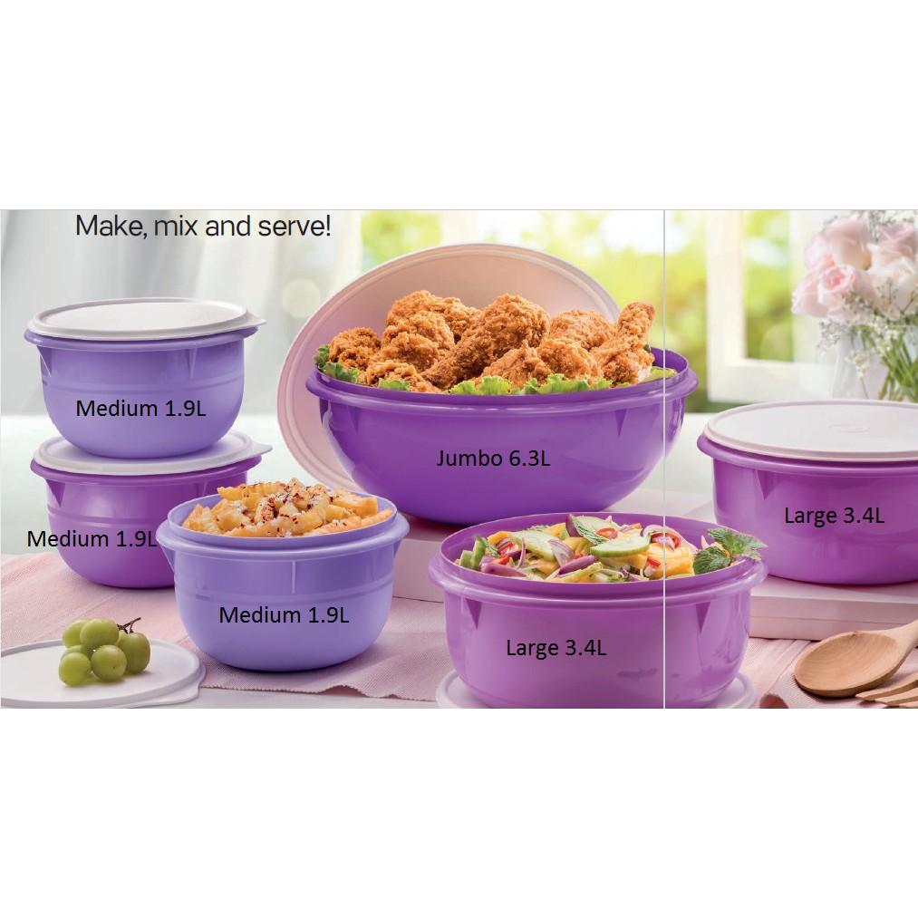 Tupperware Fix N Mix Purple Bowl
