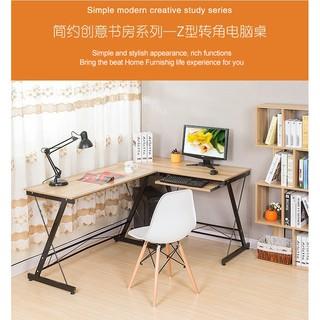 innovative design 56213 5ba8d HOME L SHAPE OFFICE COMPUTER LAPTOP WOODEN DESK STUDENT STUDY TABLE (2083)